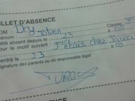 29 Mots D Absence J étais Chez Jawad Donnés à L école